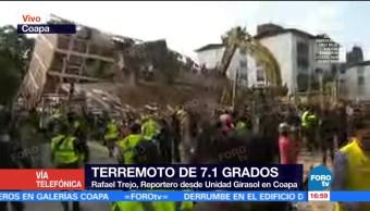Reportan personas atrapadas en edificio sobre avenida Álvaro Obregón