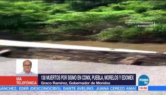 Confirma Graco Ramírez 55 Muertos Morelos Sismo 7.1 Grados