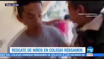 Rescate Niños Colegio Rébsamen Elementos De Emergencia