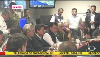 EPN encabeza reunión en el C5