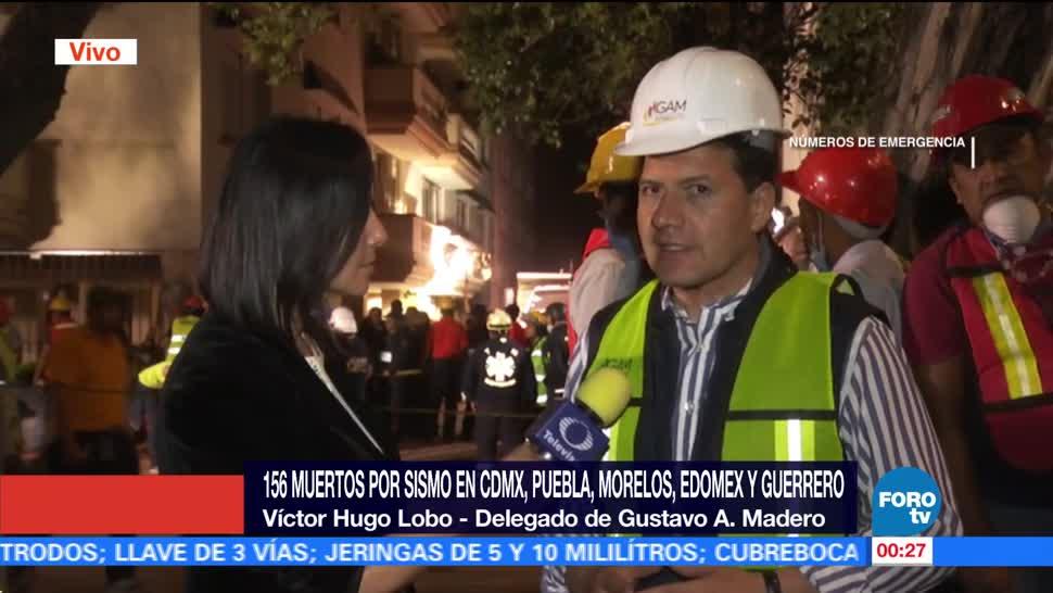 Gustavo a. Madero Concentra Trabajos Rescate Edificio Lindavista