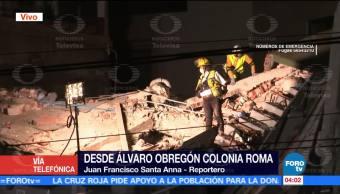 Existe esperanza de vida en edificio colapsado en Álvaro Obregón