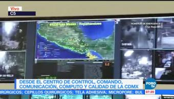 C-5 recibe llamadas de auxilio tras el sismo en la CDMX
