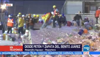Siguen labores de rescate en la delegación Benito Juárez tras sismo