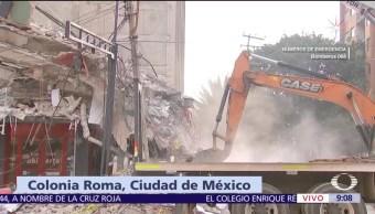 Avanzan labores de rescate en edificio colapsado de la colonia Roma, CDMX