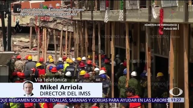 Mikel Arriola: IMSS ha atendido a más de 400 lesionados por sismo
