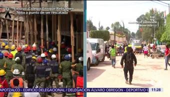 Seguridad Pública CDMX cerca el colegio Enrique Rébsamen