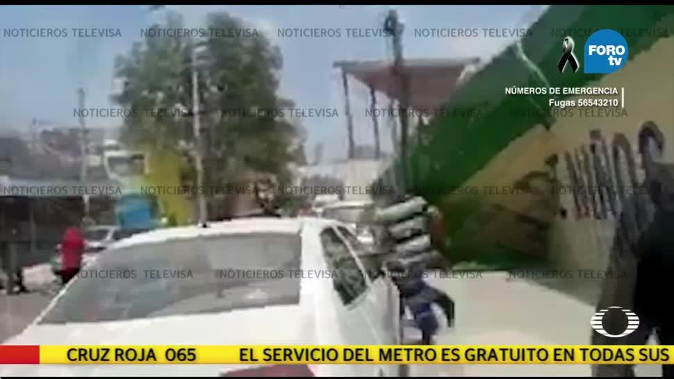Difunden video del colapso del colegio Rébsamen por sismo