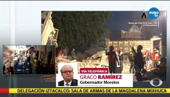 Van 73 muertos en Morelos por el sismo Graco Ramírez
