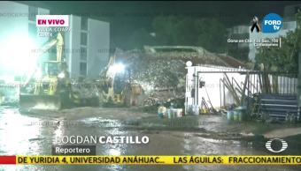 Reporte de acciones de rescate en edificios de Villa Coapa
