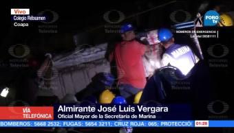 Confirman que hay una niña viva entre escombros del Colegio Rébsamen