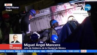 Mancera actualiza cifra mortal por sismo en la CDMX