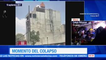 Videos de usuarios de internet durante el sismo