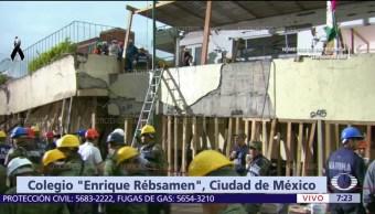 Siguen suspendidas labores de rescate en el colegio Enrique Rébsamen