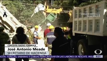 Meade afirma que hay suficientes recursos para enfrentar daños del sismo