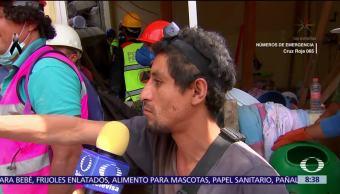 Más de 50 personas han sido rescatadas tras sismo; habla un voluntario