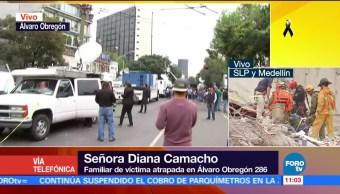 Labores de rescate en edificio colapsado en Álvaro Obregón