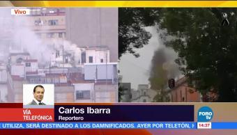 Se registra incendio en edificio ubicado en Balderas y Ayuntamiento, CDMX