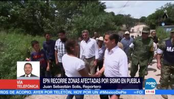 EPN visita Puebla para evaluar daños por el sismo