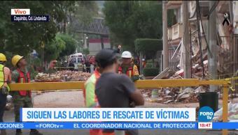 Detienen labores de rescate ante posible derrumbe en Coquimbo