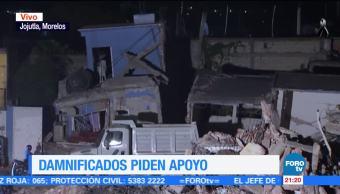 Damnificados de Jojutla piden apoyo tras el sismo