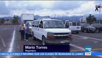 Sale convoy del Estadio Azteca con ayuda para damnificados del sismo