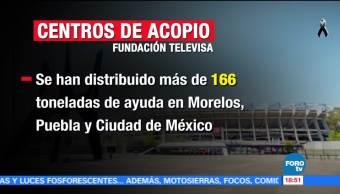 Este viernes funcionan los centros de acopio de Fundación Televisa