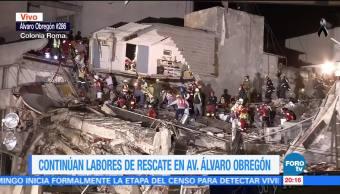 Roberta Jacobson visita sismo en avenida Álvaro Obregón