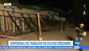 Continúan labores de rescate sin maquinaria en el colegio Rébsamen