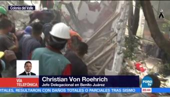 inmuebles colapsados tras sismo en Benito Juárez Christian Von Roehrich