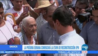 EPN anuncia reconstrucción de viviendas en Oaxaca y Chiapas