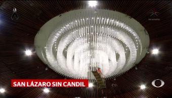 Retiran candil de Salón de Plenos en San Lázaro