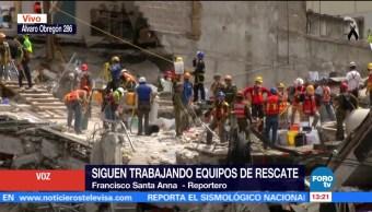 Suman 120 horas de trabajos de rescate en Álvaro Obregón 286