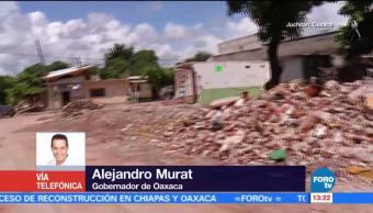 Gobernador de Oaxaca realiza balance de daños tras sismo de 6.1 grados