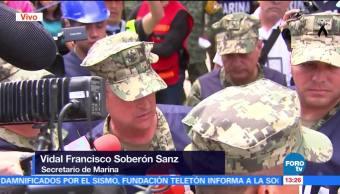 Secretario de Marina indica que seguirán labores de rescate en el colegio Rébsamen