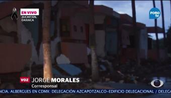 Réplicas de sismo colapsan edificios ya afectados en Oaxaca