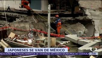 Rescatistas de Japón regresan a su país tras apoyar a México