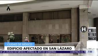 Un edificio de la Cámara de Diputados fue afectado por sismo