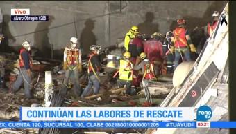 Labores de rescate en Álvaro Obregón 286 no cesan