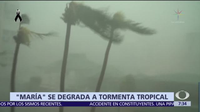 Huracán 'María' se degrada a tormenta tropical frente a Carolina del Norte