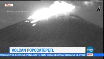 Volcán Popocatépetl incrementa su actividad