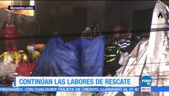 Rescatan tres cuerpos de edificio colapsado en Álvaro Obregón