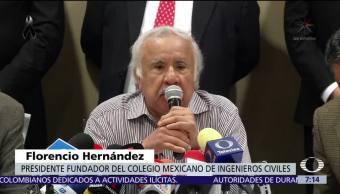Colegio Mexicano de Ingenieros ofrece apoyo gratuito de peritos tras sismo 19-S