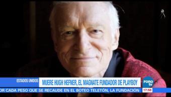 Muere Hugh Hefner fundador d revista Playboy