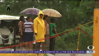 Municipios afectados por sismos en Oaxaca ahora enfrentan lluvias intensas