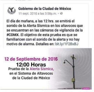 Redes sociales, Simulacro de sismo, Alerta sismica, CDMX