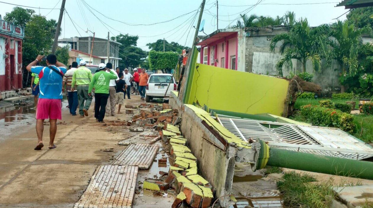 afectaciones en calles de chiapas por sismo en chiapas