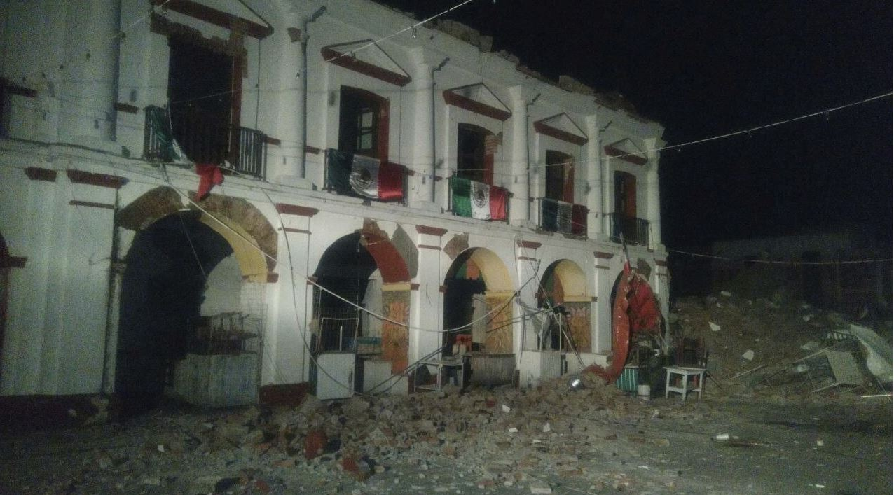 afectaciones por sismo en oaxaca