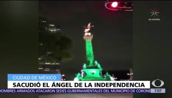 Ángel de la Independencia se remece con sismo del 7 de septiembre