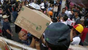 Abastecimiento de centro de acopio en Morelos